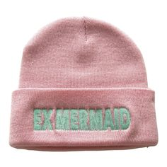 I want to be where the people are! Shop the look at NYLONshop http://shop.nylonmag.com/collections/whats-new/products/ex-mermaid-pink-beanie