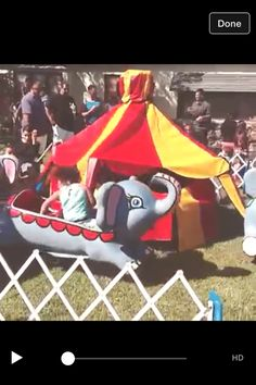 Boy first birthday vintage TOYLAND electronic elephant carnival ride