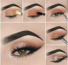 eye makeup guide step by step & eye makeup guide step by step . step by step guide to eye makeup . make up guide step by step eye makeup . eyeshadow brushes guide step by step eye makeup Makeup Eye Looks, Eye Makeup Steps, Simple Eye Makeup, Blue Eye Makeup, Makeup For Brown Eyes, Skin Makeup, Eyeshadow Makeup, Easy Makeup, Natural Eyeshadow