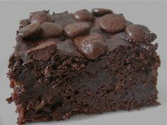 Amazing Allergy Free Double Chocolate Brownies | Healthy Blender Recipes (sub for clean ingredients: sweetener; cacao)