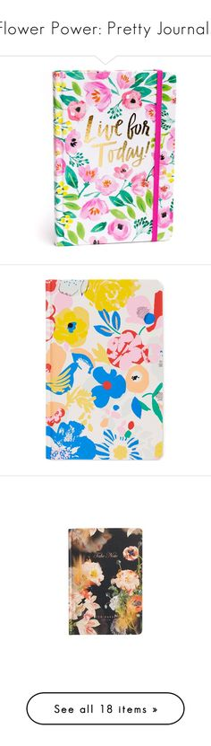"""Flower Power: Pretty Journals"" by polyvore-editorial ❤ liked on Polyvore featuring floraljournals, home, home decor, stationery, multi, floral, notebooks, purple, accessories and alpine floral"