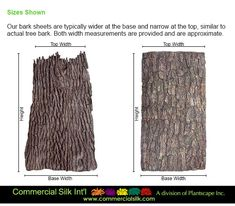 Fake tree bark panels by Commercial Silk Int'l originated from a mold of a living tree. Our commercial grade tree bark panels are used to create artificial tree trunks and steel column wraps around the globe.