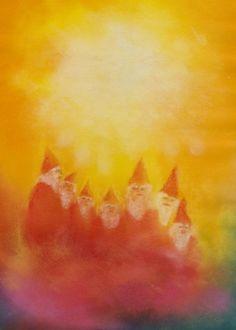 Schilderijen voor kinderen « Jan de Kok Rudolf Steiner, Wet On Wet Painting, Painting & Drawing, Chalkboard Drawings, Chalkboard Art, Felt Pictures, Pictures To Draw, Waldorf Montessori, Nature Table