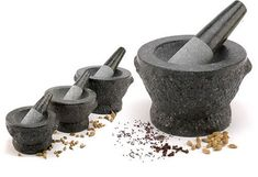 Mortar and Pestle - Every size has its use.  If you don't own one, then buy one asap.