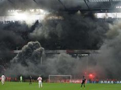 Incredible photo from Cologne's match v Bayern. Smoke bombs go off after Cologne's relegation was confirmed. Lukas Podolski, Go Off, Popular Articles, Most Popular, Cologne, Old Things, Around The Worlds, The Incredibles, History