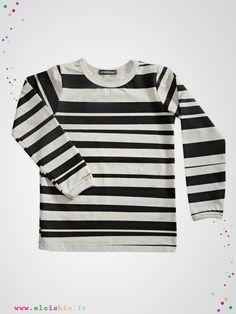 Tshit enfant rayé noir et blanc de la collection stripe