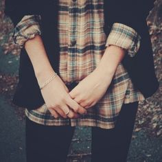Cardigan and flannel
