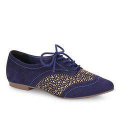 Sapato Oxford Feminino Via Marte 13-2804 - Marinho