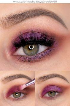 Unicorn Cosmetics Totemic Eyeshadow Palette Augen Make up Tutorial. Lila AMU, perfekt für grüne Augen. Step by Step Schminkanleitung für diesen schimmernden Make up Look! #eyemakeup #augenmakeup #makeuplook #makeuptutorial #makeup