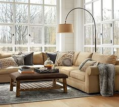 Pearce 3-Piece L-Shaped Sectional with Wedge - Performance everydaysuede™ #potterybarn