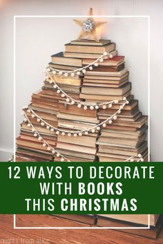 These DIY Christmas decor ideas are so creative, easy, and cheap! Christmas Is Coming, All Things Christmas, Holiday Crafts, Christmas Crafts, Merry Christmas, Holiday Decor, New Years Decorations, Christmas Decorations, Library Inspiration
