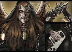 💀 Toki Wartooth, messenger of death and rhythm guitarist from the most brutal metal band, Dethklok (Metalocalypse) REDBUBBLE link HERE Toki Wartooth, Brutal Legend, Metalocalypse, Goth Music, Heavy Metal Art, Death Metal, Metal Bands, Easy Drawings, Hard Rock