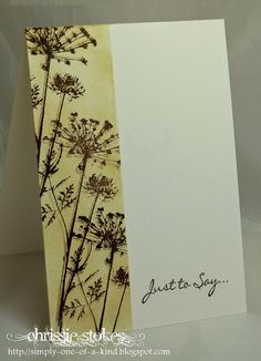 Shadow Stamping one layer card by Chrissie Stokes