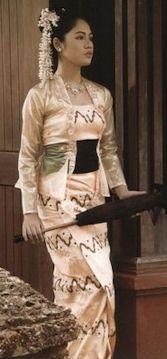 Myanmar traditional costume.