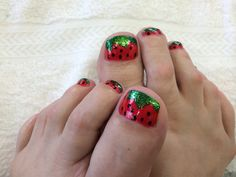 Strawberry pedicure