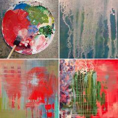 Experimentations with acrylic paint - Deanna Hutton