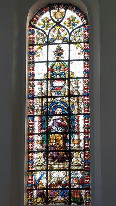 Vitral de Maria Magdalena.  Iglesia del Espíritu Santo.  Copenhague
