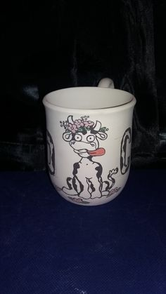 Mad COW mug hand painted for my sister-in-law how just loves cows.