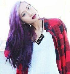 Wavy Ombre`Purple Hair