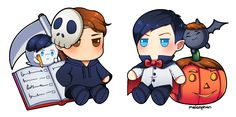 It's already 31st October here so Happy Halloween people! Here's more Halloween themed plushie! Dan & Phil