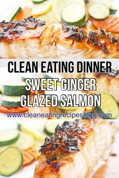 Clean eating recipe: sweet ginger glazed salmon #cleaneating #weightlosshelp