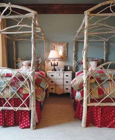 5 Charmingly Rustic Kids' Rooms: Woodland Welcome Rustic Style, Rustic Decor, Woodland Decor, Rustic Kids Rooms, Tree Bed, Big Girl Rooms, Guest Bedrooms, Guest Room, Inspired Homes