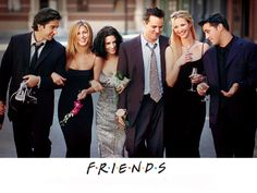 FRIENDS ~~ Cast: Left-to-Right: David Schwimmer(Ross Geller), Jennifer Aniston(Rachel Green), Courteney Cox(Monica Geller-Bing), Matthew Perry(Chandler Bing), Lisa Kudrow(Phoebe Bufay) and Matt Leblanc(Joe Tribbiani). Tv: Friends, Friends 1994, Friends Forever, Friends Cast, Friends Series, Friends Season, Friends Trivia, Friends Moments, Friends Episodes
