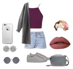 """Chill"" by hayiamas ❤ liked on Polyvore featuring Topshop, adidas, Forever 21, Valentino and LifeProof"