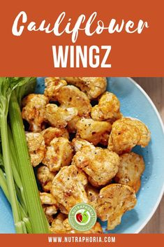 Low Fat Cholesterol Free Cauliflower Wingz are super easy to make! have you given cauliflower wingz a try yet? #vegan #meatalternatives
