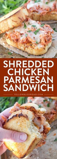 Parmesan Sandwich Shredded Chicken Parmesan Sandwich - Incredibly delicious and easy dinner recipe that's ready in under 15 minutes!Shredded Chicken Parmesan Sandwich - Incredibly delicious and easy dinner recipe that's ready in under 15 minutes! Lunch Recipes, Easy Dinner Recipes, Cooking Recipes, Tofu Recipes, Couscous Recipes, Recipies, Cauliflower Recipes, Sausage Recipes, Grilling Recipes