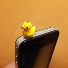 Cute Little Yellow Duck Duckling Anti Dust Plug 3.5mm Phone Accessories Charm Headphone Jack Earphone Cap for iPhone 4 4S 5 iPad HTC Samsung on Etsy, $3.28 AUD