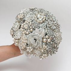 Gorgeous brooch bouquet as a flower alternative from FlowerDecoration, Etsy