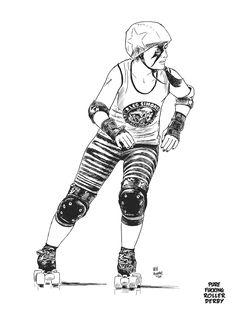French roller derby girl. Kill'em all.