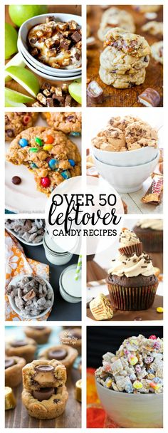 Over 50 Leftover Candy Recipes - A collection of delicious treats and dessert recipes to make with candy! | The Love Nerds
