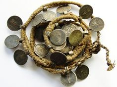 "☆ ""vintage/antique Nepalese Coin Necklace ( Happy Mango Beads via Pinterest) """