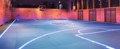 Is this 'Tron'-style floor the future of basketball?