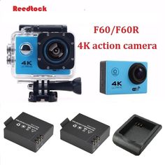 68.00$ Watch here - aid0e.worlditems.... - Action sports camera F60 / F60R DV Allwinner V3 4K 30fps 1080p 60fps WiFi 2.0 170D waterproof camera extra battery   charger