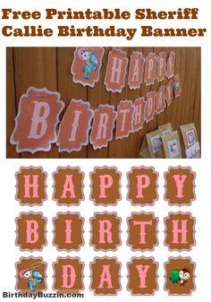 Free printable Sheriff Callie birthday banner
