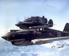 3rd Squadron Hell's Angels Flying Tigers over China photographed in 1942 by AVG pilot Robert T. Smith. [3.832px  3.096px]