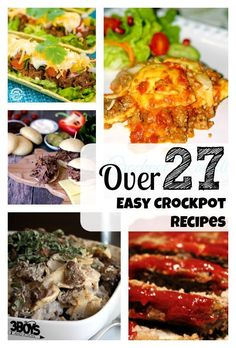 over 27 easy crockpot beef recipes