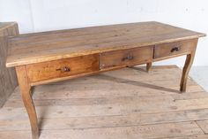 Dining Table With Drawers, Prep Kitchen, Large Drawers, French Oak, French Antiques, Entryway Tables, Prepping, Dining Room, Colonial