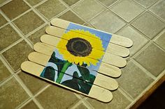 Popsicle stick puzzles -- glue a picture on a row of popsicle sticks, then cut them apart to make a puzzle. Easy to stick in purse for when you need something to keep the kiddos busy!