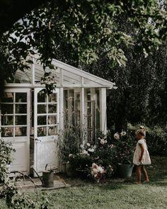 Min bästa plats🍃🌸 Idag åker lite av sommarblommorna ut i bäddarna!🙌🏻 Cosy Interior, Glass Building, Cut Flower Garden, Farmhouse Garden, White Picket Fence, Anna, Back Road, Late Summer, Cut Flowers