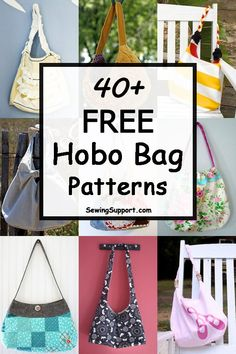Over 40 Free Hobo Bag patterns, tutorials, and diy sewing projects. Make fun slouchy, cross-body and sling bags. How to make a hobo bag. Diy Sewing Projects, Sewing Projects For Beginners, Sewing Tutorials, Sewing Hacks, Sewing Tips, Fabric Bags, Fabric Scraps, Hobo Bag Tutorials, Hobo Bag Patterns
