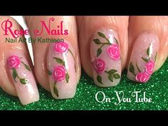 New years eve gradient party nails meliney how to easy beginners pink roses nail art tutorial youtube prinsesfo Gallery