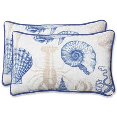 Pillow Perfect Outdoor Sealife Rectangular Throw Pillow