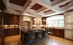 CEILING!!!!      See more project details for Providence Area by Walker Woodworking including photos, cost and more.