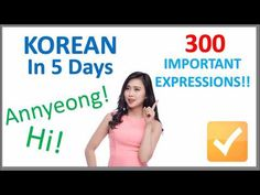 Learn Korean in 5 Days - Conversation for Beginners - YouTube