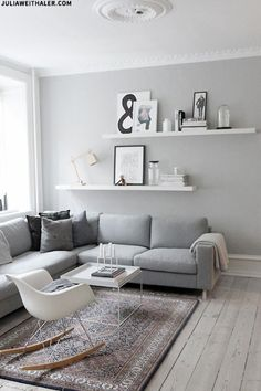 Styling Your Shelves, Sheerluxe. Love the clean simple look.