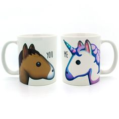 Unicorn and horse you and me emoji mug - Funny mug - Rude mug - Mug cup 4P034B
